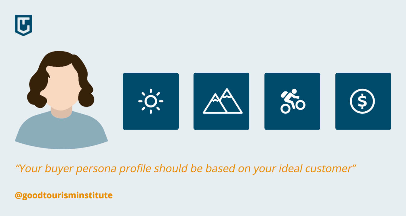 Base your buyer persona on your ideal target group - Become a successful tour operator