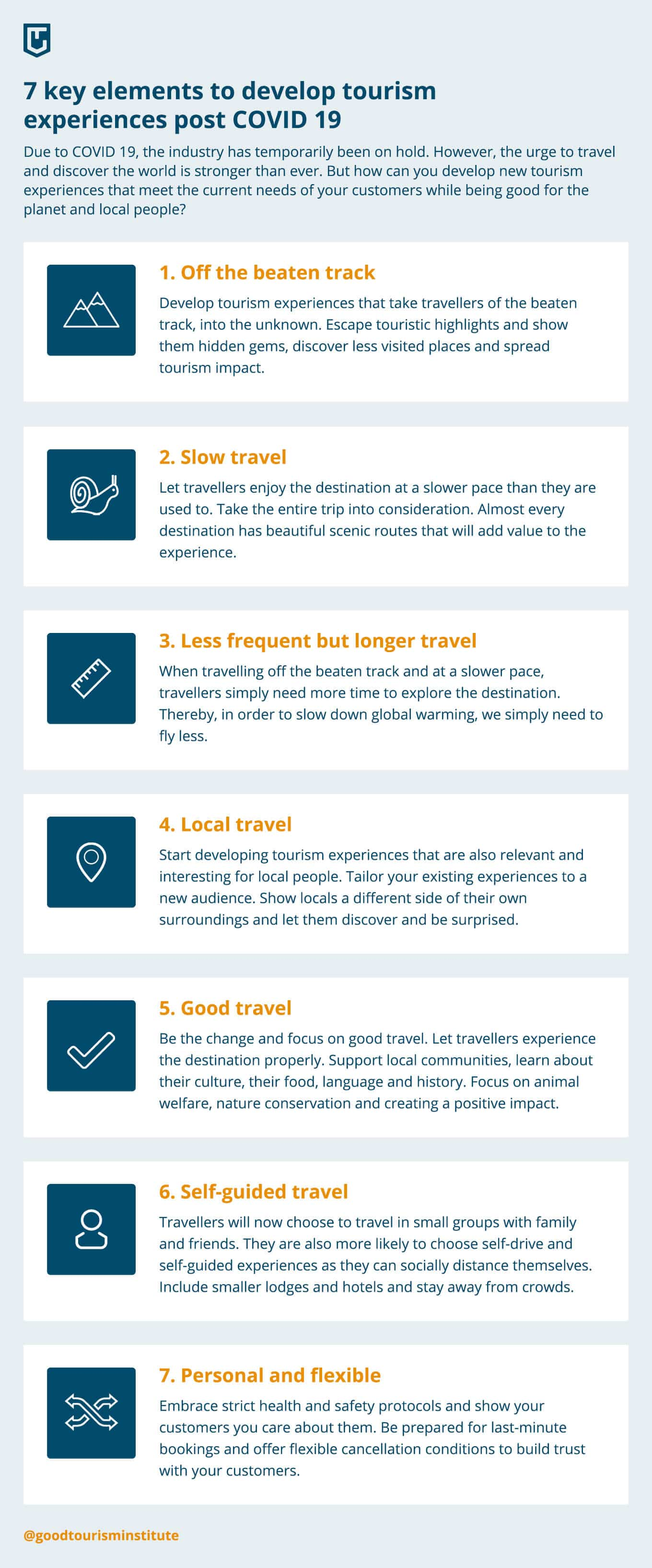 Developing new tourism post COVID 19 (infographic)