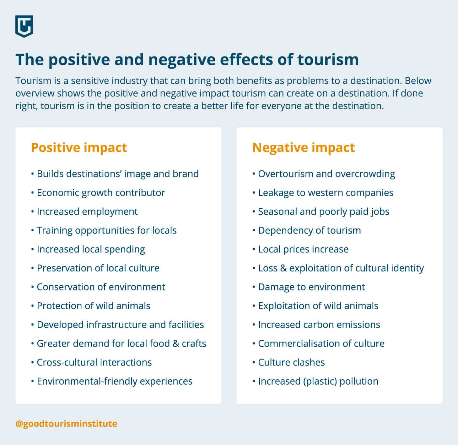 The possitive and negative effects of tourism